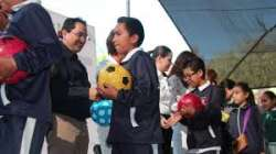 Estudiantes de nivel básico festejan festival en el marco del Día de niño