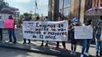 FNERRR se manifiesta en Morelia, exigen vacunación para menores