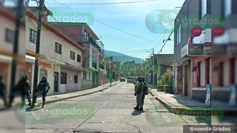 """Fuerte balacera; en la detención de Juan Antonio """"S"""", ex encargado de la policía municipal, en Acámbaro, Guanajuato"""