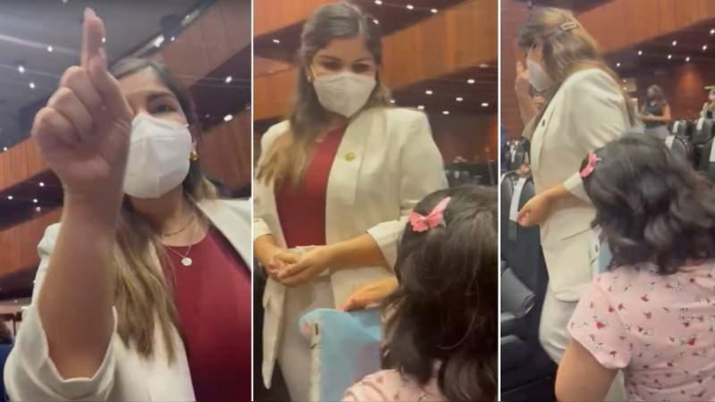 Ignora diputada de Morena a mujer que suplico hincada ayuda para las quimioterapias de su hijo