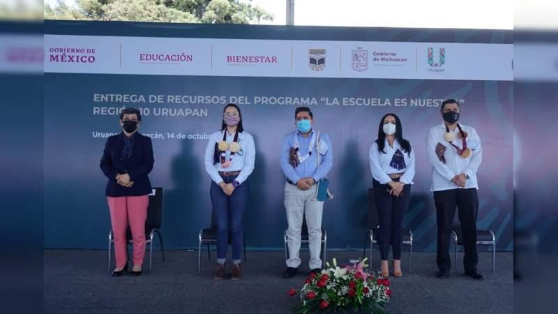 En coordinación con la federación, apoyaremos la educación de Uruapan: Nacho Campos