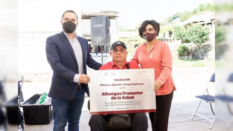 """Validan """"Albergue Promotor de la Salud del Migrante"""" en municipio de Los Reyes"""
