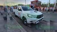 Muchacho de 17 años resulta fracturado al chocar su moto contra una camioneta, en Zamora, Michoacán