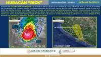 """Alerta PC Michoacán ante llegada de huracán """"Rick"""""""