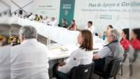 AMLO y su gabinete presentan en Guerrero el Plan de Apoyo para el estado