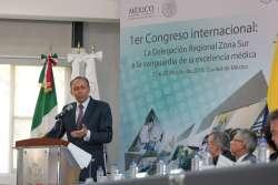 """Reyes Baeza clausura el Primer Congreso Internacional """"El ISSSTE a la Vanguardia de la Excelencia Médica"""