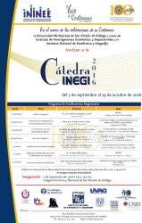 UMSNH invita a la Cátedra INEGI 2016
