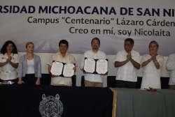 Firma el rector de la UMSNH convenio de colaboración en materia de Servicio Social con el Ayuntamiento de Lázaro Cárdenas