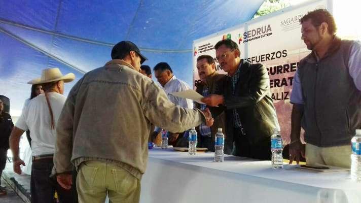 Reciben productores morelianos más de 2 millones de pesos para proyectos productivos