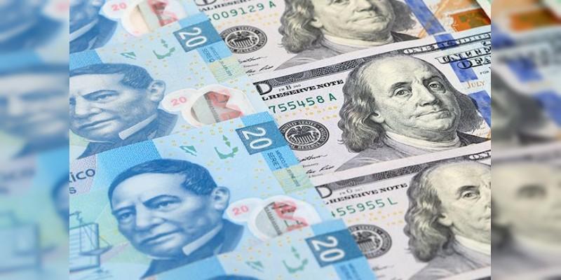 Dólar cierra a la venta en 22.32 pesos en bancos