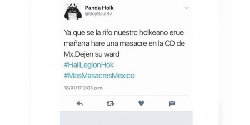 #MásMasacresEnMéxico, amenazan con una masacre en la CDMX