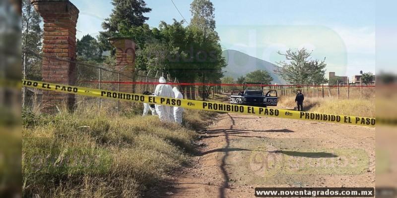 Con venda en el cuello localizan cadáver de un niño en Jacona, Michoacán