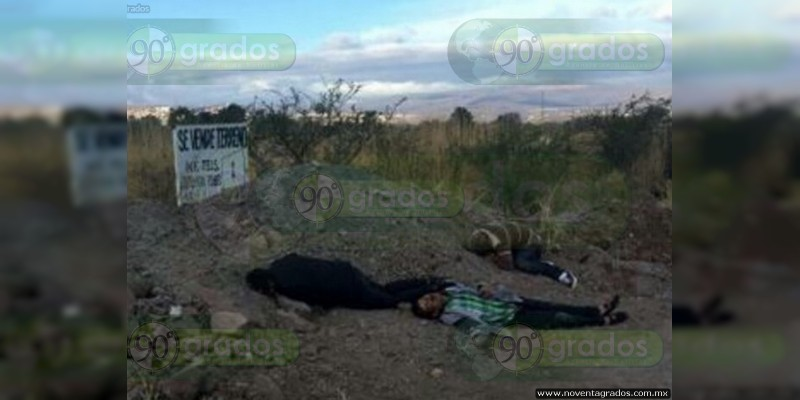 Abandonan a tres ejecutados sobre una brecha en Sahuayo, Michoacán