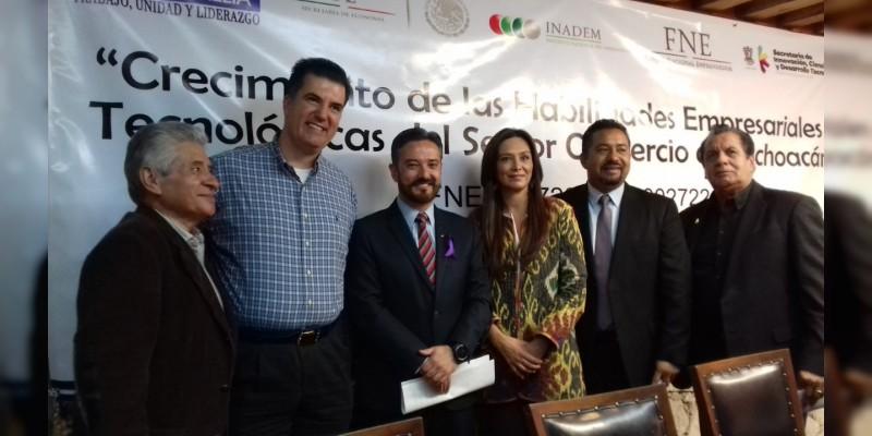 Proyecto �??Crecimiento de las Habilidades Empresariales y Tecnológicas del sector comercio se Michoacán�?�.