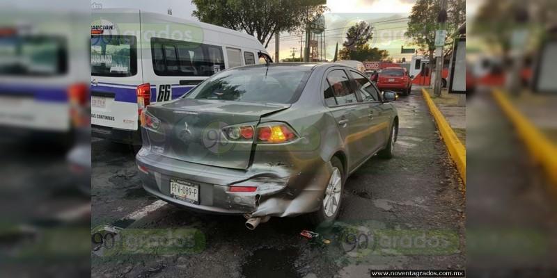 Presunto ministerial ebrio choca al periodista Jorge Hidalgo, en Morelia
