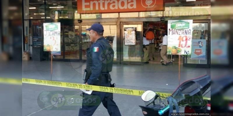Zamora: desconocidos balean a sujeto en tienda departamental