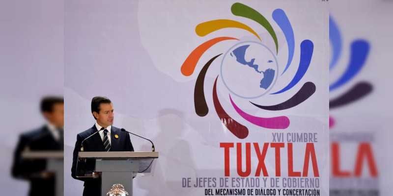 Peña Nieto llama a países de Centroamérica y el Caribe a atender las causas de la migración