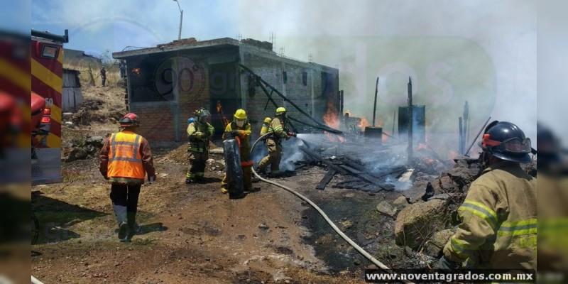 Morelia: Arden siete casas en Ciudad Jardín