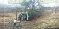 Vuelca autobús en Ecuandureo hay 25 heridos