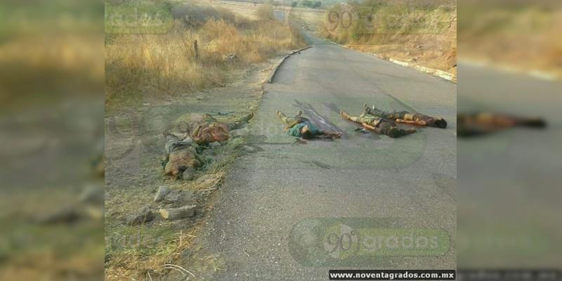Abandonan 5 cadáveres en carretera de Totoloapan, Guerrero