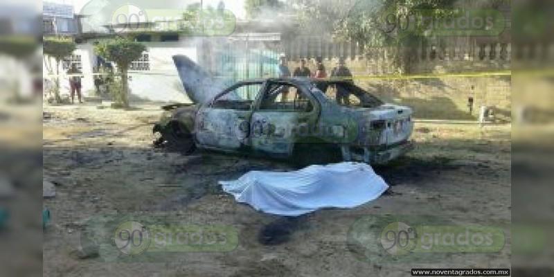 Morelia: Asesinan y encajuelan a taxista; quisieron calcinarlo
