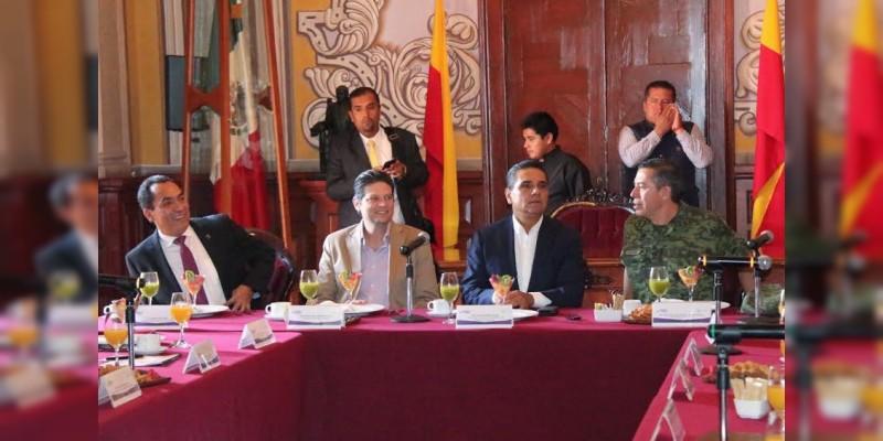 Revisa Grupo de Coordinación temas prioritarios de seguridad en Morelia