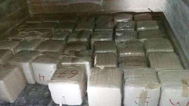 Aseguran más de una tonelada de marihuana al interior de domicilio en Tamaulipas