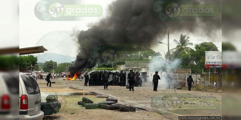 Normalistas comenzaron la agresión, versión oficial de la Secretaría de Seguridad Pública