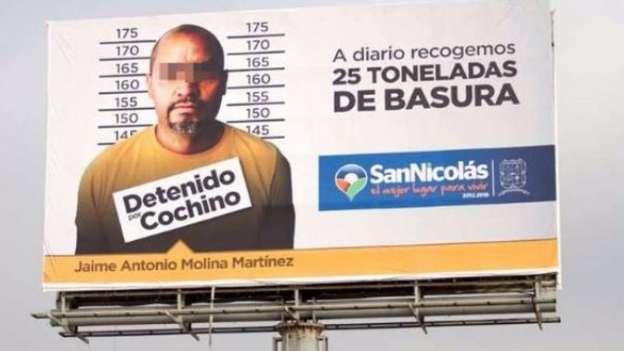 En espectaculares, exhibirán a personas que tiren basura en San Nicolás, Nuevo León