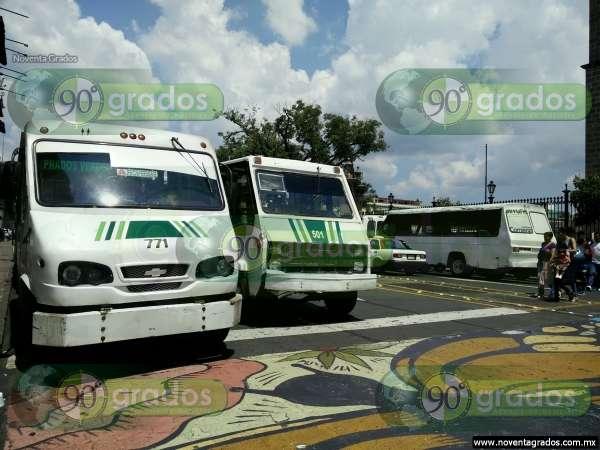 Transportistas se manifiestan en el Centro Histórico de Morelia