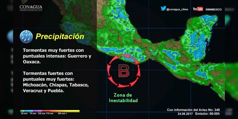 La zona de inestabilidad probabilidad de desarrollo ciclónico se mantiene en vigilancia
