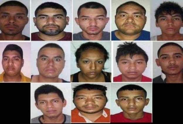 Detienen a trece integrantes del Cártel del Golfo con armas y droga, en Tamaulipas