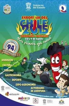 Del 07 al 09 de agosto, Expo Feria del Chile en Queréndaro, Michoacán