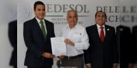 Rinde protesta Sergio Flores como Gerente de Liconsa en Michoacán