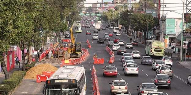 Hay cortes viales por espectáculo deportivo, obras del Metro y Metrobús en la Ciudad de México
