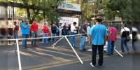Integrantes de la CNTE  se manifiesta en la Secretaría de Finanzas