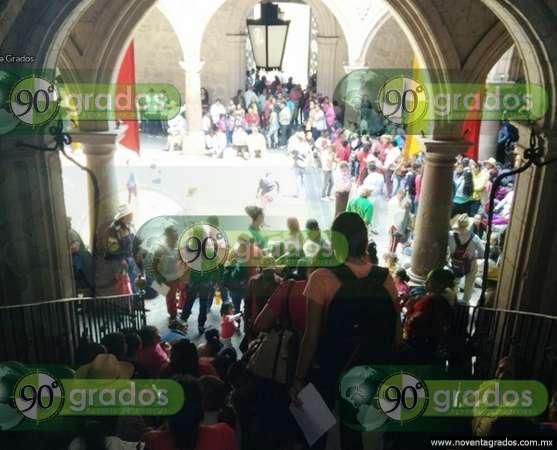 Antorcha Campesina se manifiesta en el Ayuntamiento de Morelia