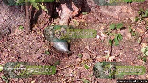 Niños hallan granada abandonada, en Lázaro Cárdenas, Michoacán