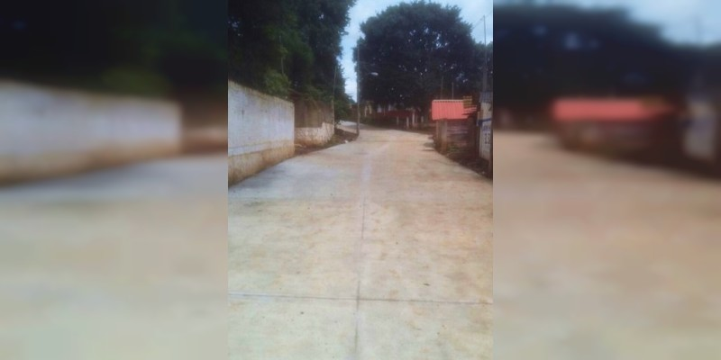 Avance de la construcción de calle en San José de Chuen: Rabí Núñez