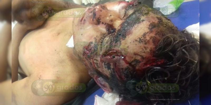 Moribundo hallan a joven que fue salvajemente golpeado  en Apatzingán
