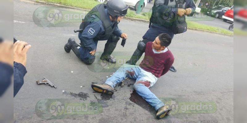 Morelia: Ladrón lesiona a Policía y luego es detenido