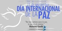 Hoy se celebra el Día Internacional de la Paz