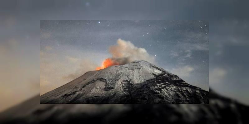 VIDEO: Reportan erupción en el Popocatépetl