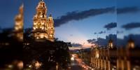 En plena temporada turística el ayuntamiento de Morelia tiene que cambiar la iluminación escénica de catedral