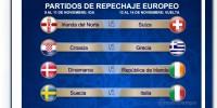 Listos los repechajes de la Eliminatoria Europea