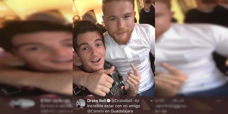 Drake Bell se emociona al ver al Canelo y le pide foto