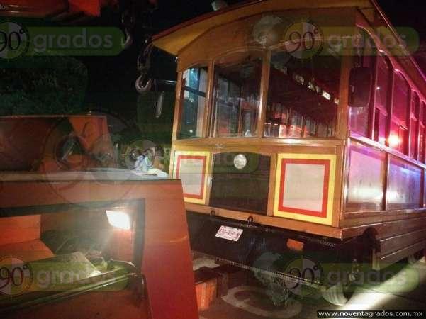 Desalojan a tranvieros del Centro Histórico de la capital michoacana