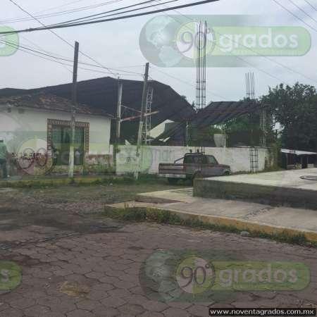 Tromba causa estragos en Parácuaro, Michoacán