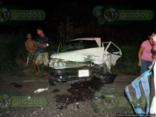Seis heridos tras choque frontal, en Lázaro Cárdenas, Michoacán