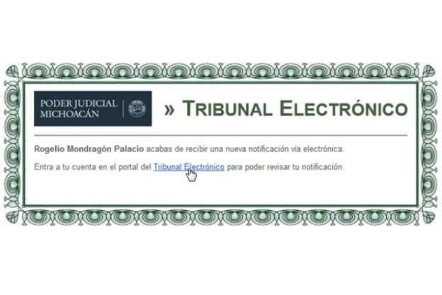 Con notificaciones electrónicas, Poder Judicial de Michoacán optimiza tiempos de procesos judiciales